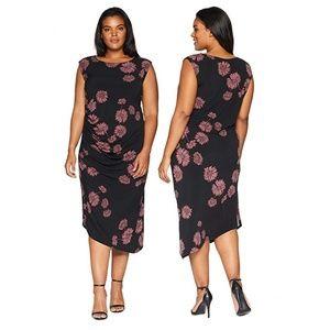 Vince Camuto Plus Size Cap Sleeve Floral Dress